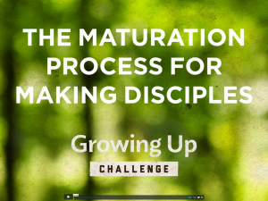 The Maturation Process For Making Disciples